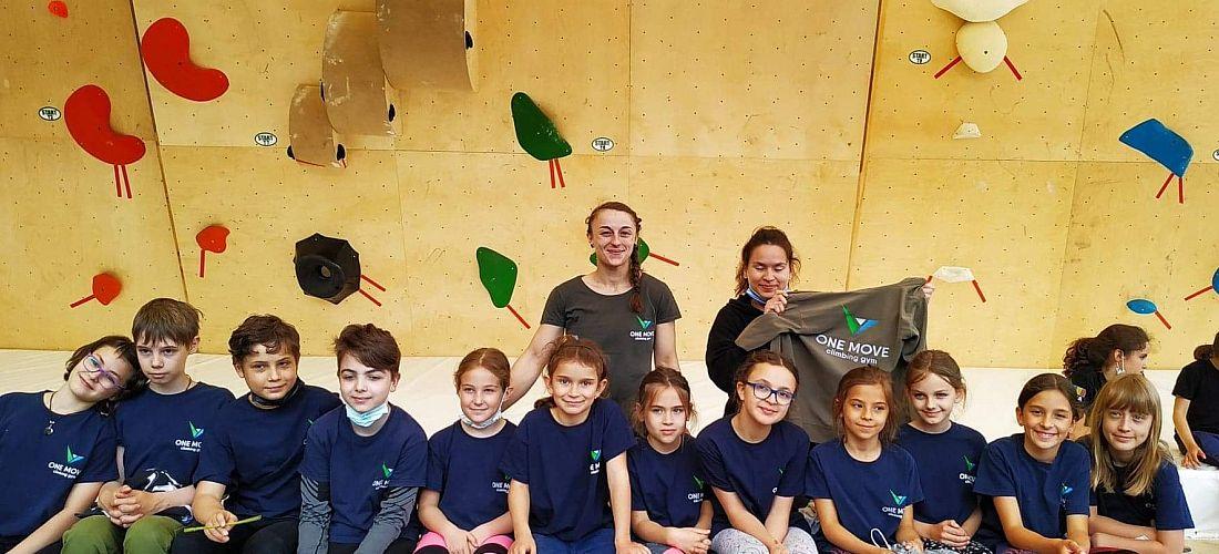 Echipa de copii la CN de Escalada
