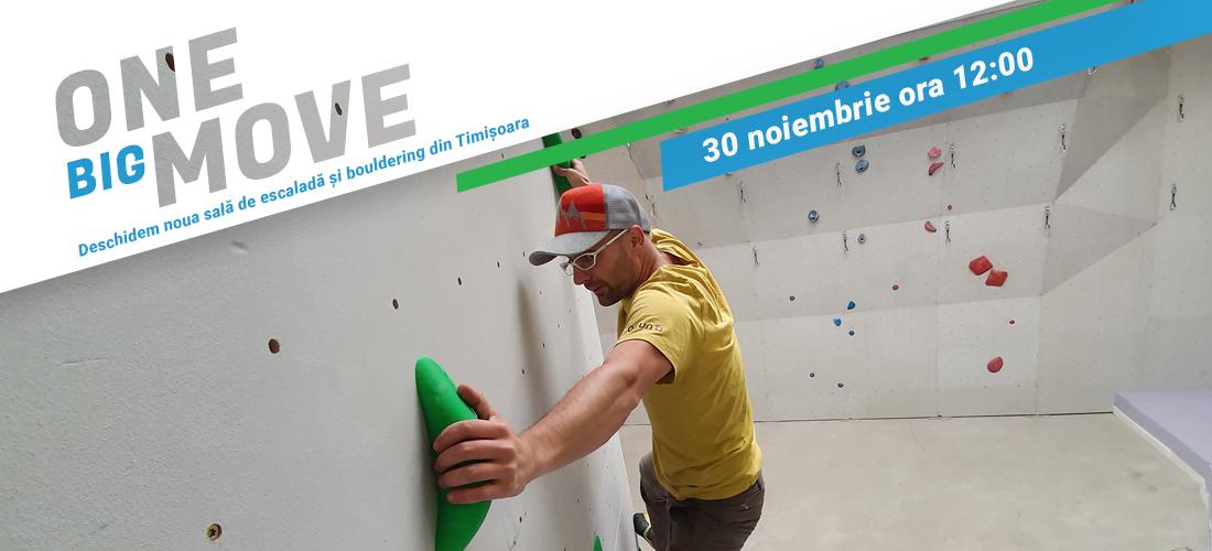 Noua sală de escaladă și bouldering