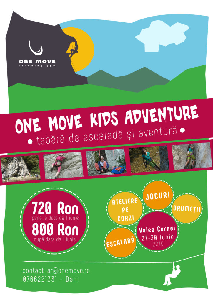 Tabara de escalada si aventura one mvoe kids adventure 2019