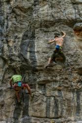 Andrei la CAR-Climbfest in Suncuius