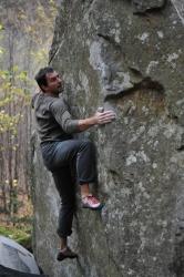 Adi la bouldering in Retezat
